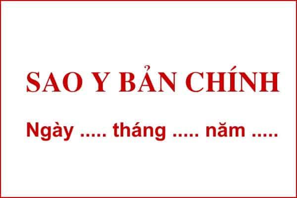 sao y ban chinh